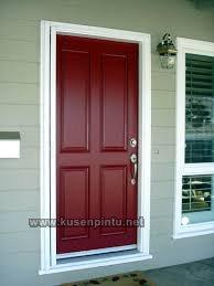 Contoh Kusen Pintu Warna Merah