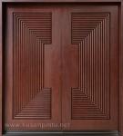 Desain Interior Kusen Pintu Modern Salur Kayu Jati Kode ( KPK 070 )
