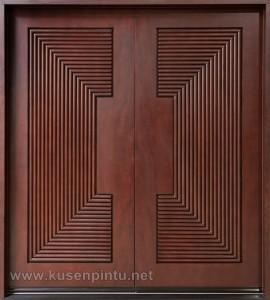 Desain Interior Kusen Pintu Modern Salur Kayu Jati