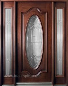 Desain Kusen Pintu Dengan Kaca