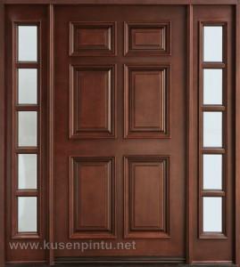 Desain Minimalis Klasik Kusen Pintu Jati