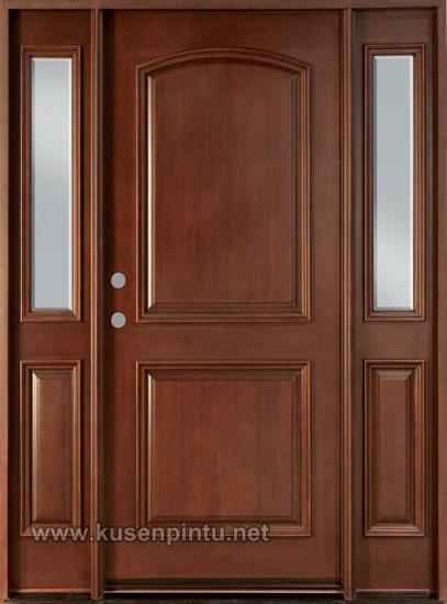 desain minimalis kusen pintu rumah kayu jati kusen pintu