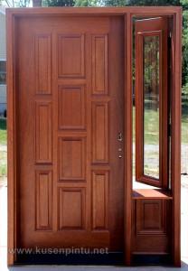 Desain Pintu Rumah Kayu Mahoni Jepara