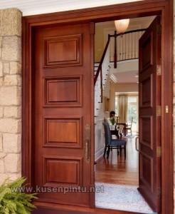 Design Kusen Pintu Rumah Kayu