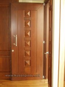 Harga Kusen Pintu Kayu Jati Solid Natural
