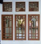 Jendela Masjid Jati Solid Kaca Bevel Kode ( KPK 118 )