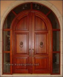 Jual Kusen Pintu Rumah Lengkung Kayu Jati