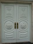 Kusen Pintu Rumah Utama Ukiran Duco Putih Kode ( KPK 176 )