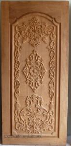 Model Daun Pintu Ukir Mahogany