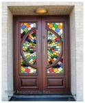 Pintu Rumah Utama Kupu Tarung Kaca Patri Kode ( KPK 219 )