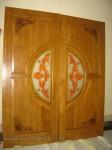 Pintu Rumah dengan Model Pintu Grafik Bunga Kode ( KPK 240 )