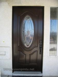 Pintu Rumah Samping Daun Patri Oval