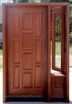 Desain Pintu Rumah Kayu Mahoni Jepara Kode ( KPK 090 )