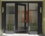 Kusen Pintu Kaca Frame Kayu Jati Kode ( KPK 154 )