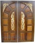 Kusen dan Daun Pintu Mewah Ukir Jepara Kode ( KPK 135 )