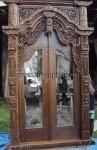 Kusen Pintu Gebyok dengan Kombinasi Kaca Cermin KPG 179