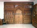 Moderl dan Ukuran Kusen Pintu Gebyok Pengantin Dekorasi KPG 293