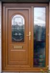 Kusen Pintu Rumah Bagian Samping Dengan Motif Kaca Kiri KPK 391